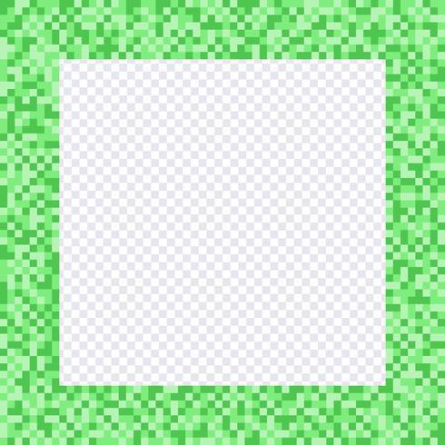 Grön pixelram, gränser vektor