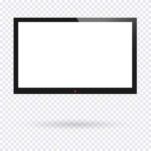 Pantalla de TV realista vector