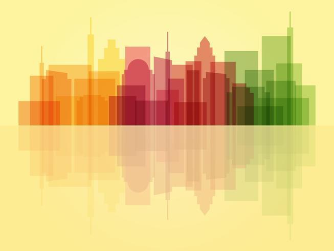 Elegante sfondo trasparente del paesaggio urbano