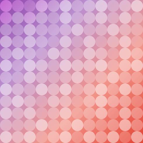 Fundo geométrico de círculos, padrão de mosaico redondo vetor