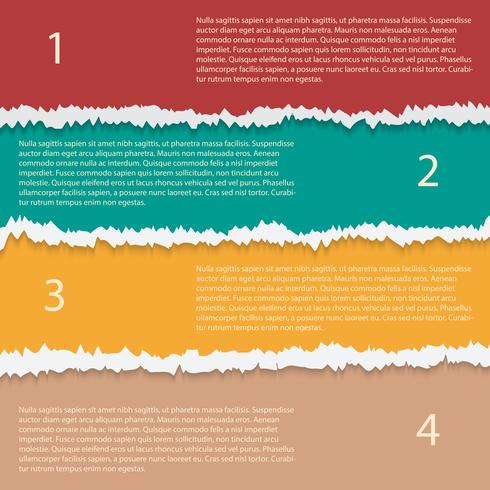 Gescheurd papier opties vector infographic sjabloon