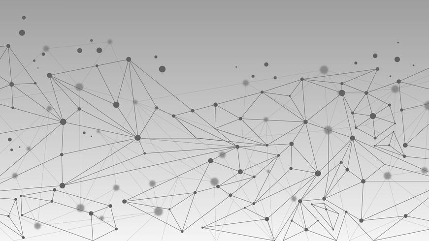 Geometrisk abstrakt molekyl och kommunikationsbakgrund
