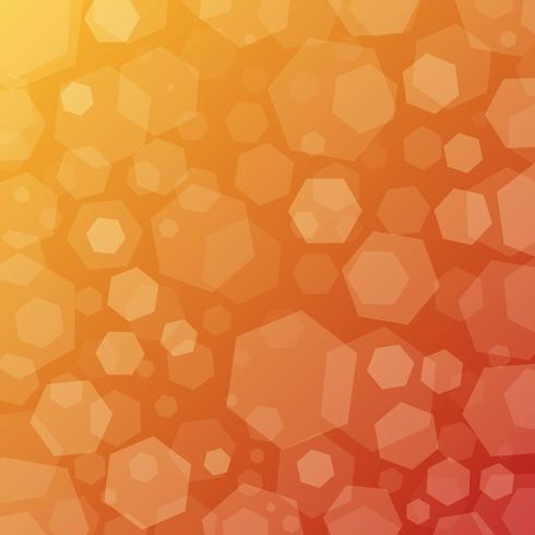 Fondo de techno abstracto geométrico soleado con hexágonos
