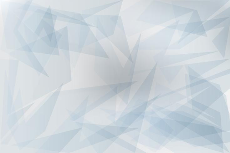 Fondo geométrico transparente gris abstracto con triángulos