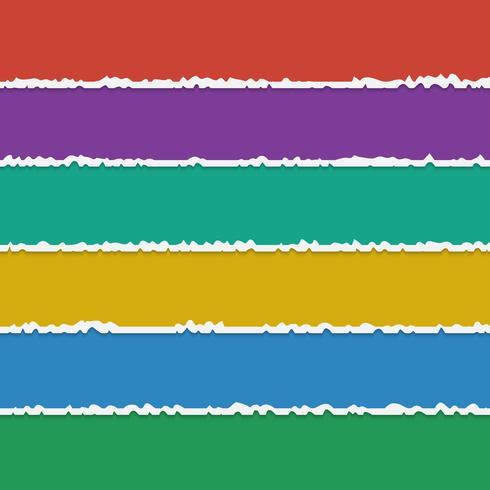 Vectorachtergrond van kleurrijke gescheurde document banners met ruimte voor tekst