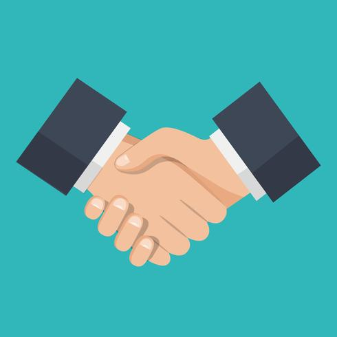 Apretón de manos de socios de negocios, icono de apretón de manos vector