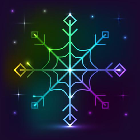 Snowflake neon lights effect