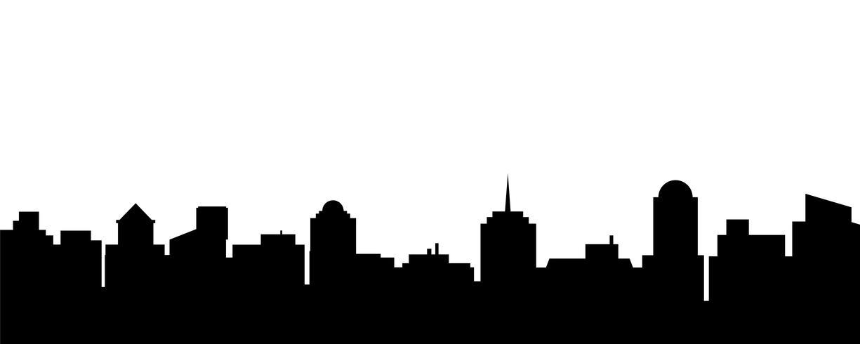 Silhouette de la ville de vector noir