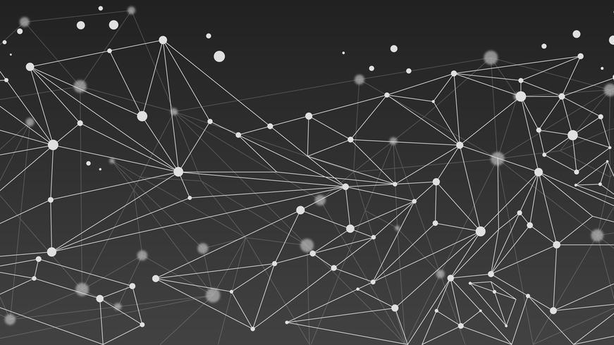 Fondo monocromatico geometrico astratto della molecola
