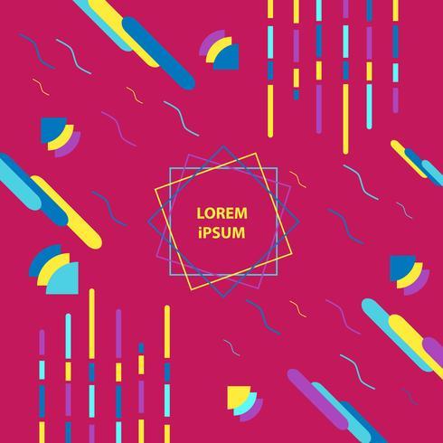 Poster di design astratto geometrico alla moda vettore