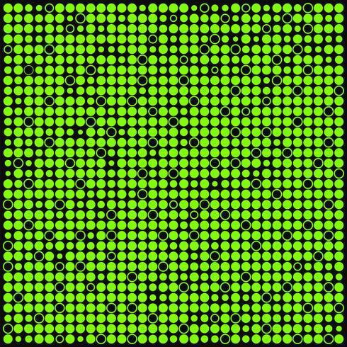 Abstrakt grön och svart bakgrund med prickar, cirklar vektor