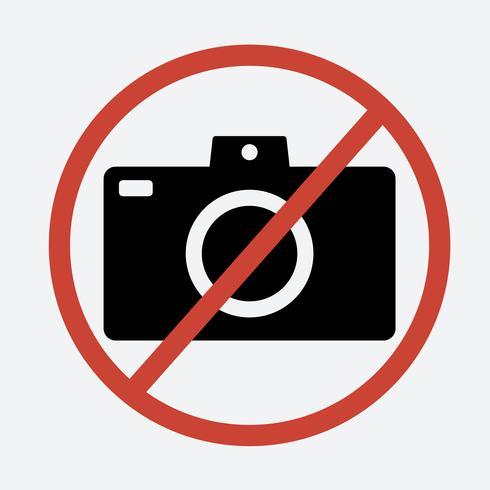 Geen fototeken op witte achtergrond vector