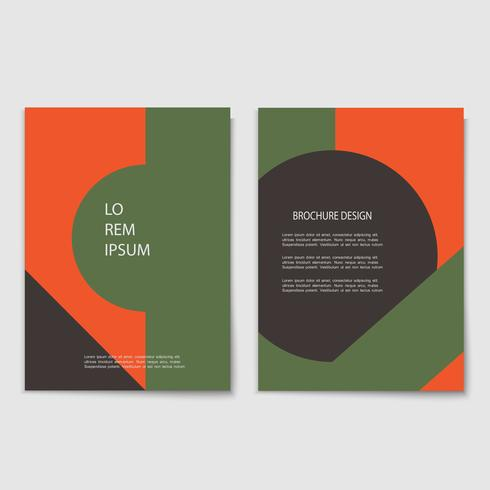 Vector set of minimal retro cards with geometric shapes