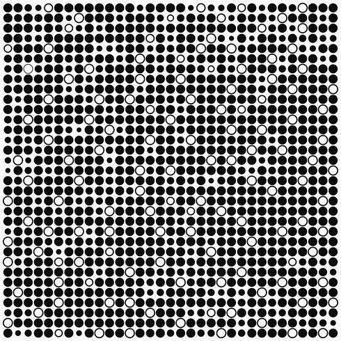 Fond minimal monochrome avec des points noirs et blancs vecteur