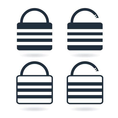 Creative Lock Icon in trendy flat style isolated on white vector