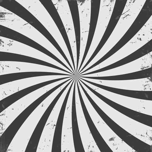 Fondo de grunge de rayos radiales monocromo vector