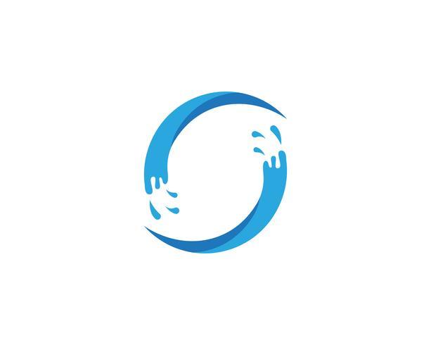 Splash vattenblå naturlogo