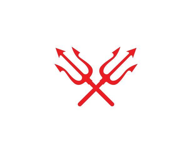 Trisula trágico logo mágico