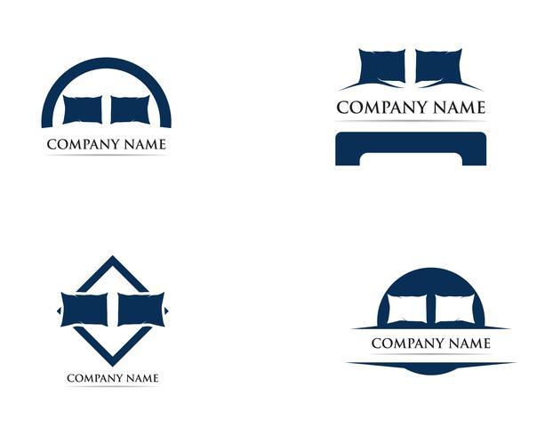 Bed logo vector template illustrator