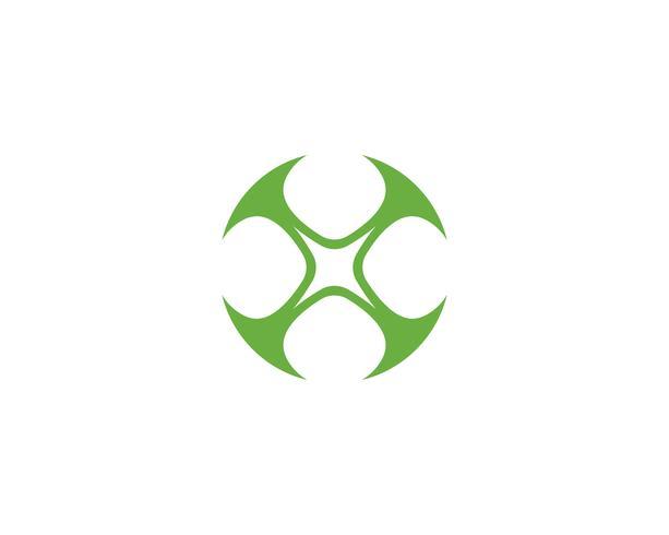 Plantilla de logotipo de hoja de trébol verde vector