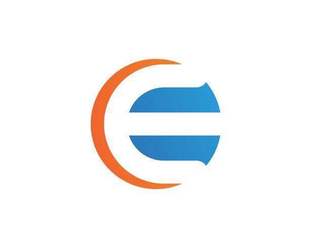 E lettre Logo Business Template vecteur icône