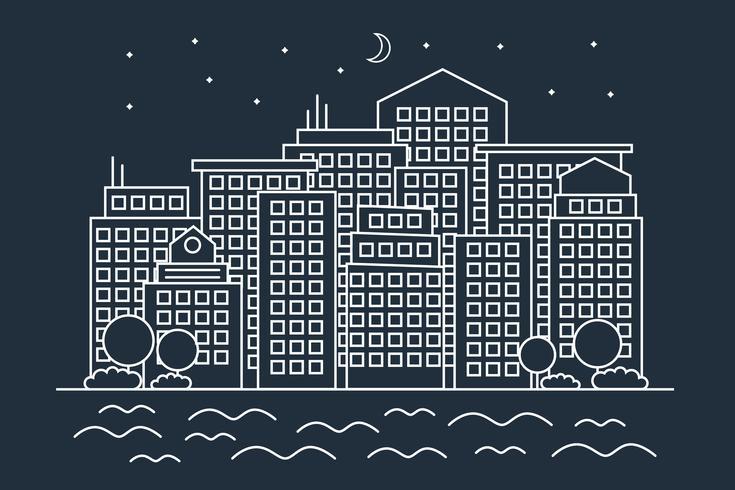 Modern linjär natt City