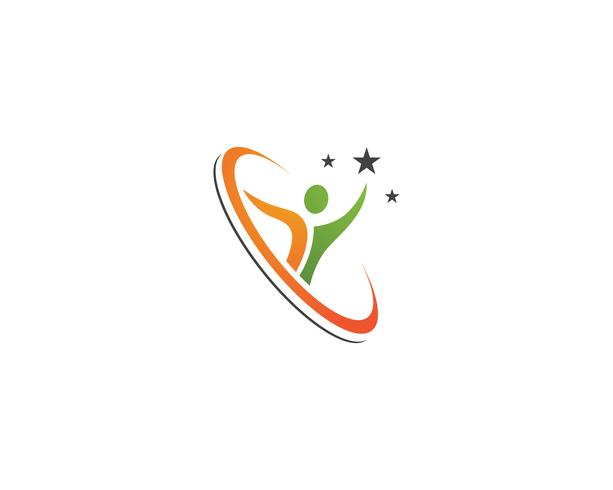 Vecteurs de logo personnes leadership