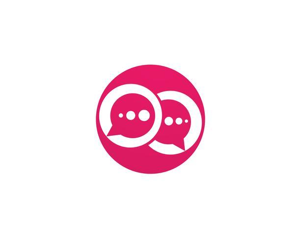 Bubble chat logo vector