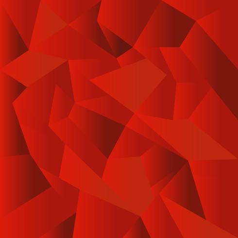 Fondo de mosaico poligonal rojo abstracto