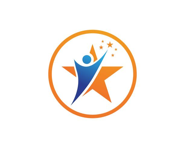 Estrellas logos y simbolos. vector