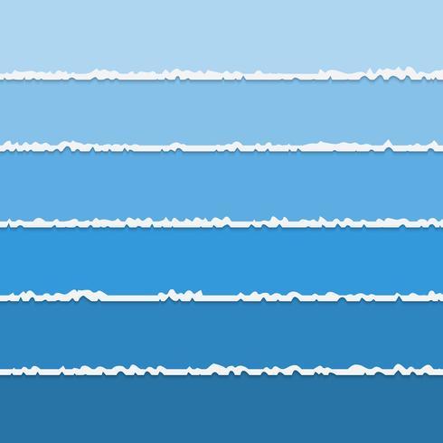 Vectorachtergrond van blauwe gescheurde document banners met ruimte voor tekst