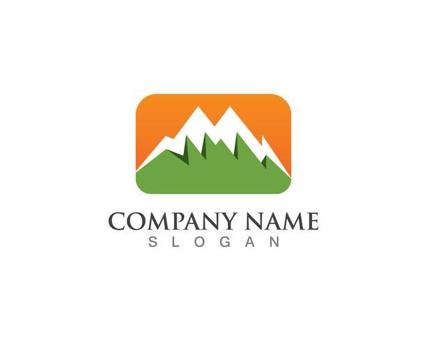 Símbolos de modelo de vetor de logotipo de montanha