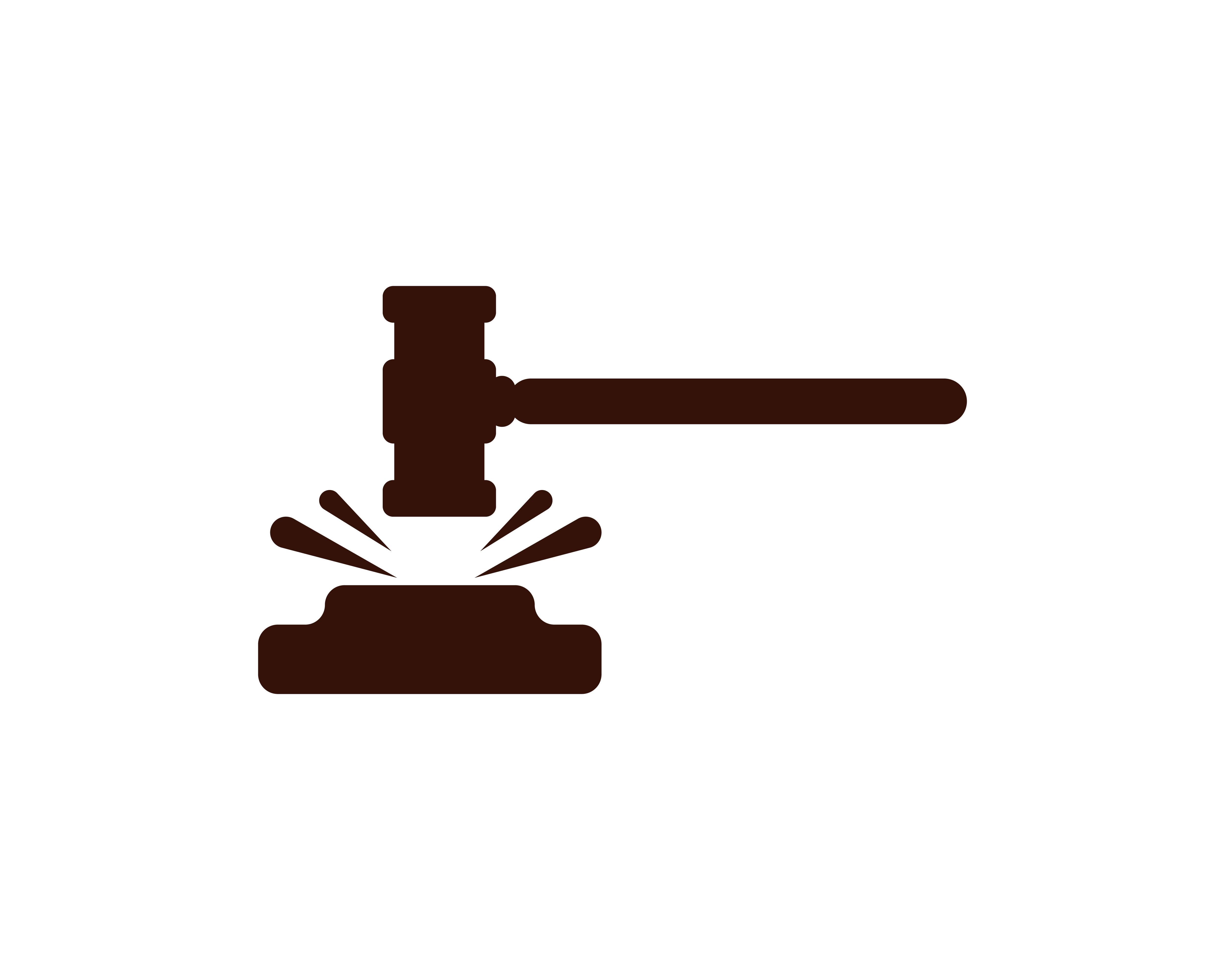 Vector Illustration Hammer: Hammer Court Vector Icon Design Illustration