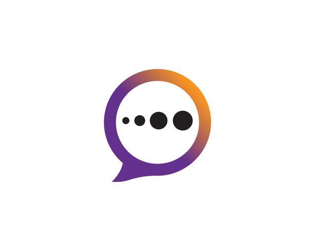 Speech bubble icon Ilustração em vetor modelo logotipo