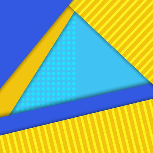Material design vector background, blue,yellow colors