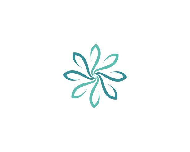 Ilustración de diseño de flores de icono de plumeria de belleza vector