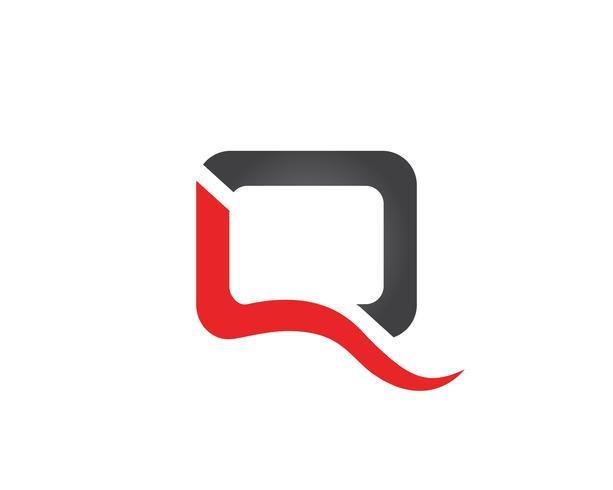 Q lettre Logo Template vecteur