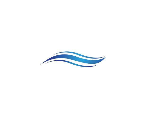 Símbolo de ola de agua e icono de logotipos vector