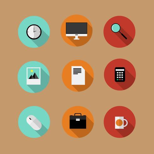 Conjunto de iconos de vector plano bussines