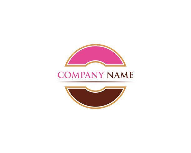 Donuts Logo Vektor Vorlage Illustration
