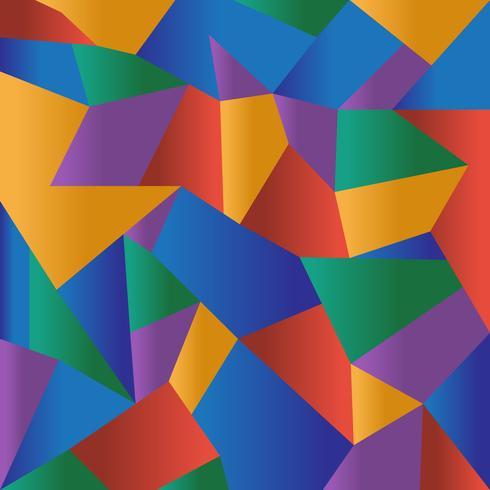 Fondo colorido abstracto del mosaico poligonal