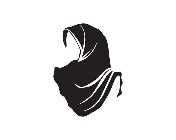logotipo de hijab vector negro