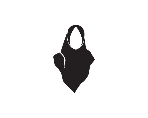 logo vectoriel hijab noir