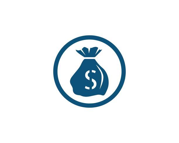 Ilustração em vetor modelo saco de dinheiro