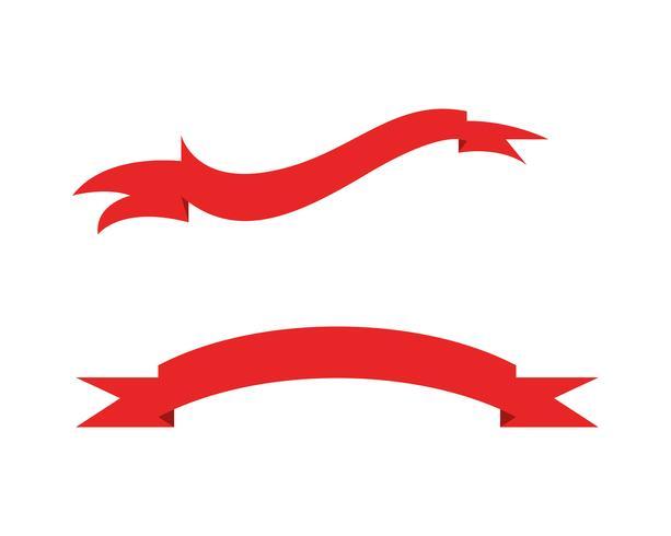 Platte vector linten banners plat geïsoleerd op wit