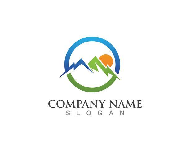 Mountain logo vector template symbols
