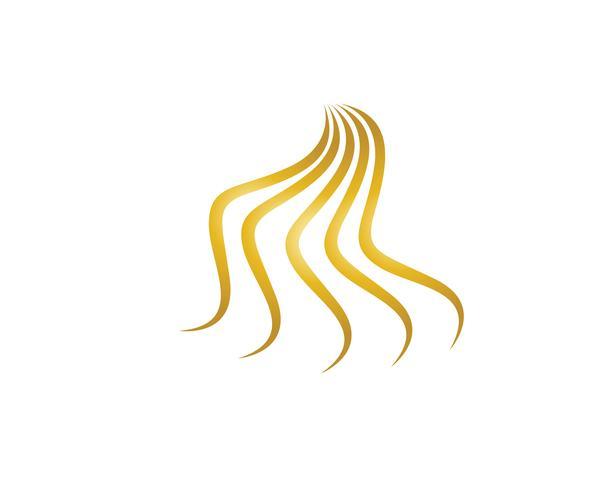 Haargolf logo vector ion sjabloon illustraties