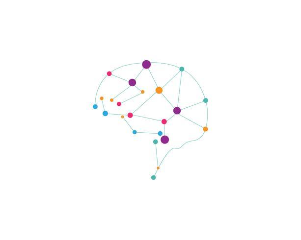 Vecteur de symboles Logo cerveau