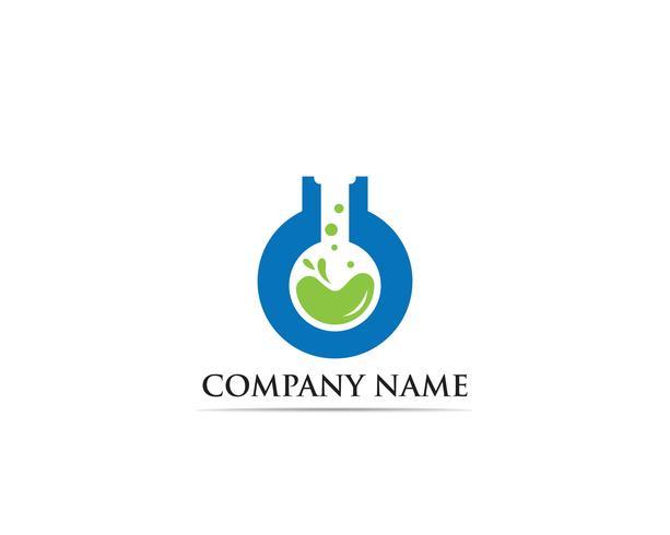 Ejemplo de la plantilla del icono del vector del logotipo del laboratorio