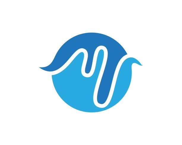 icono de vector de la insignia de la onda de sonido ilustración